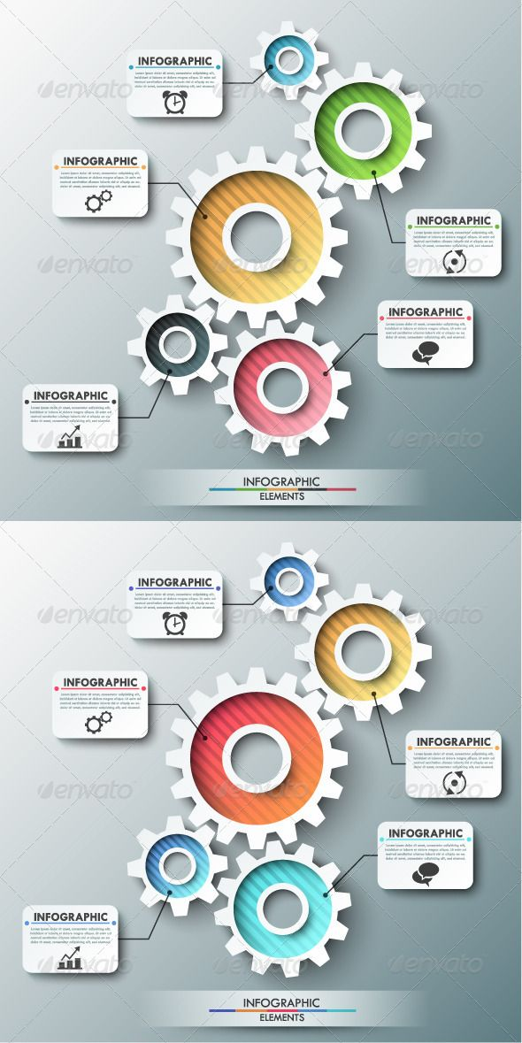 Modern Infographic Template With Gear Chain #design Download: http://graphicriver.net/item/modern-infographic-template-with-gear-chain/8010712?ref=ksioks