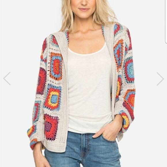 Johnny Was Yvonne Crocheted Sweater Crochet Cardigan Crochet Jacket Crochet Cardigan Pattern