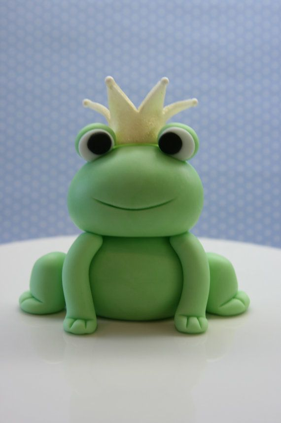 Prince Frog Cake Topper Set by BeautifulKitchen on Etsy