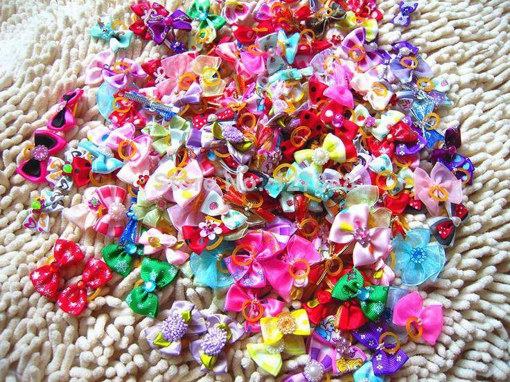 nuovo mix di disegni strass perle di stile cane fiocchi di pet
