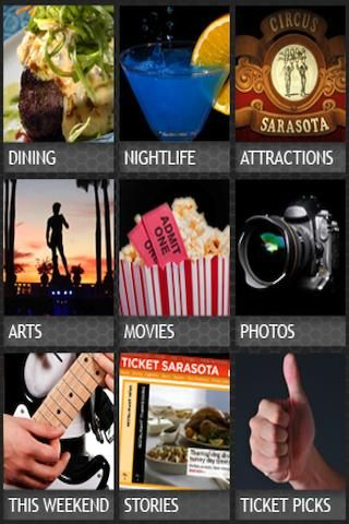 TICKET is the authoritative guide to Sarasota, Bradenton, Venice and the rest of Southwest Florida, with detailed restaurant and bar listings, local attractions, nightlife and arts events, and the best way to plan your weekend. Powered by the Sarasota Her