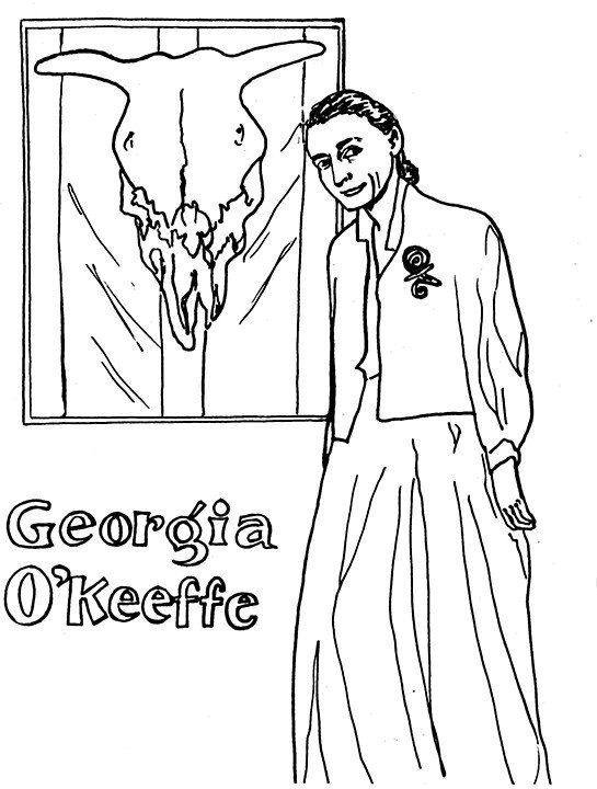 okeefe coloring pages - photo#24