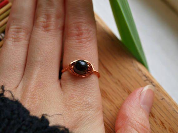 Black Tourmaline Ring Black Tourmaline Jewelry Black Tourmaline Crystal Protection Jewelry Protection Stone Protection Ring Crystals Black Tourmaline Ring Black Tourmaline Jewelry Black Rings