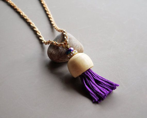 Bohemian tassel necklace