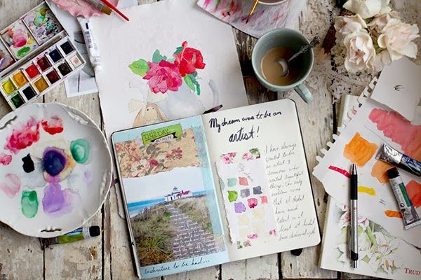365 Days of Art Journalling. Love this idea <3