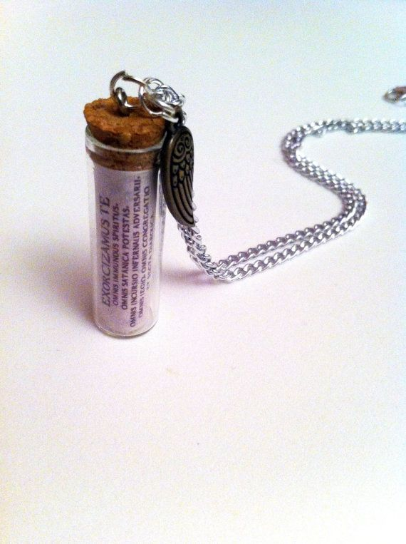 Supernatural Exorcism Spell Necklace ! so want!