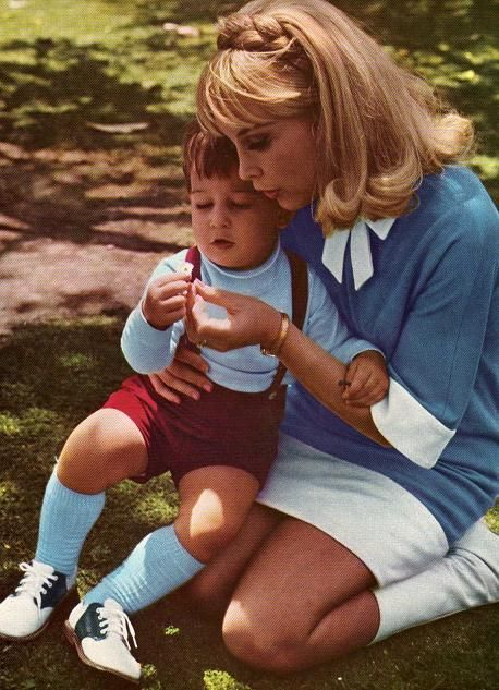 Barbara Eden & son Matthew Ansara . So sad, he was her only child and he died from a drug overdose.