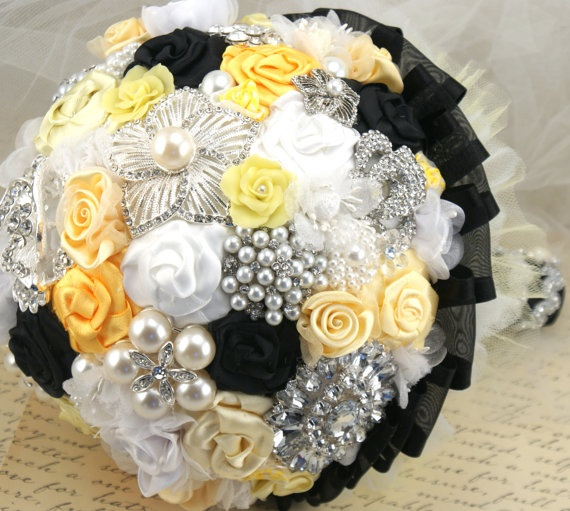Black And Yellow Wedding Flowers: Black & Yellow Color Theme