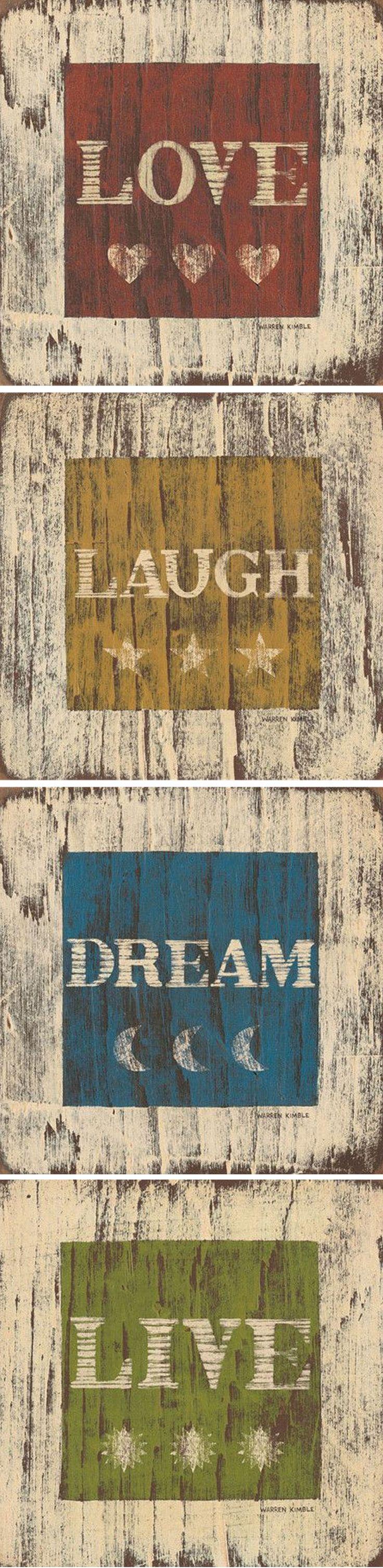 Love * Laugh * Dream * Live Inspirational Wall Art <3