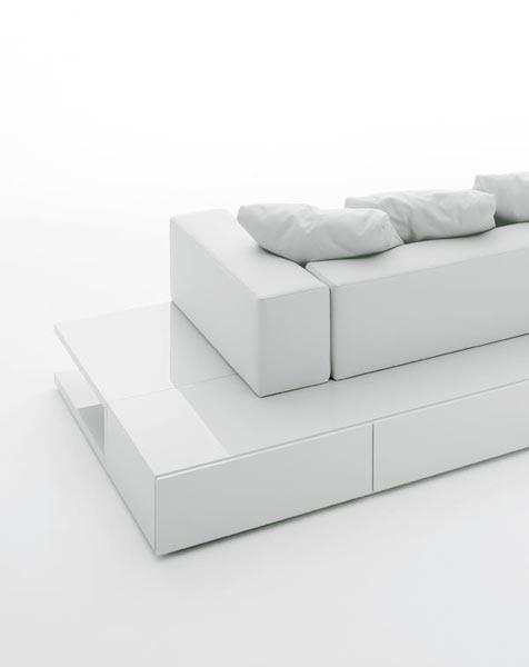White modular sofa, Insieme by Pinca_