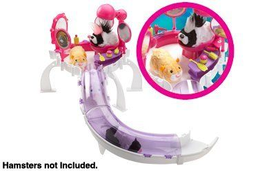 "Zhu Zhu Pets Salon by Cepia LLC - Import. $7.20. Now your Zhu Zhu Pets can pamper themselvers at the salon. No salon is complete without mirrors, lights, brushes and grooming supplies~. Watch the Zhu Zhu Pets ? sit in the chair and the fan goes to ""dry"" their hair. Time for a new do!. Ages 4 and up. From the Manufacturer                Salon                                    Product Description                Time for a new do! Now your Zhu Zhu Pets can pamper themselvers at..."