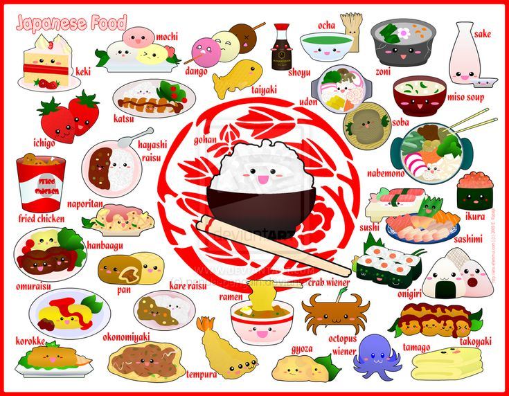 Foodies - Japanese Food by panda-penguin.deviantart.com on @deviantART