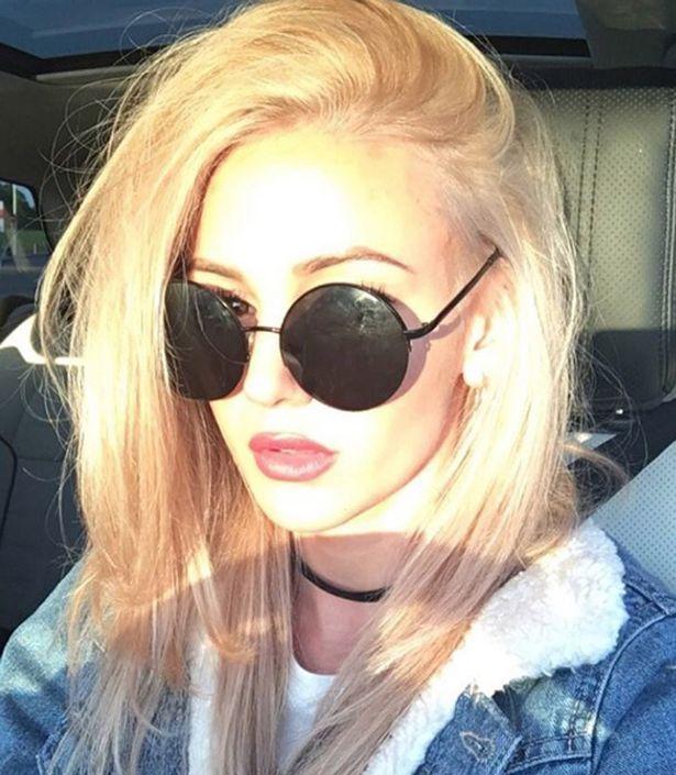 Michelle Keegan with blonde hair on Instagram