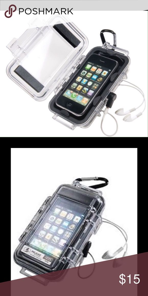 "Pelican ProGear i1015 Case for iPhone,Smartphone Interior 5.14""x2.64""X11.37"" Great for rugged sports Designed for iPhone, iPhone 4, iPod touch Fit several smart phones including blackberry: Bold/curve/storm/pearl,  T-mobile My Touch, T-mobile G1 Nokia 5800/5530/E63/E75/N97 mini / N79/N78 Motorola Droid/ C External Jack allows full use of iPhone / iPhone touch microphone and volume commands Build and cable manager holds earphones and cables Custom rubber liner stainless steel hardwareWater…"