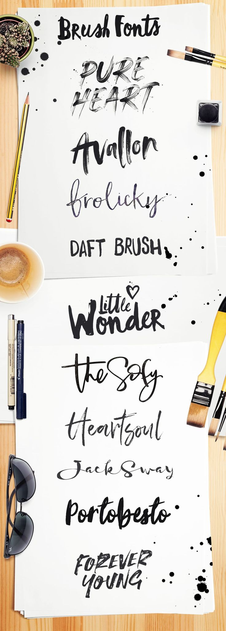 Brush font inspiration 10 awesome examples of modern handmade brush fonts. Brush fonts, from script to display all hand drawn with Irregular brush marks, thick and thin strokes with wobbly lines and the odd paint drip.