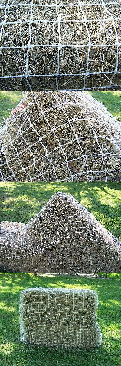 Hay Nets and Bags 159013: 13 X 13 White Square Net Heavy Duty Horse Hay Netting 2 #36 Test 350 Lb BUY IT NOW ONLY: $63.95