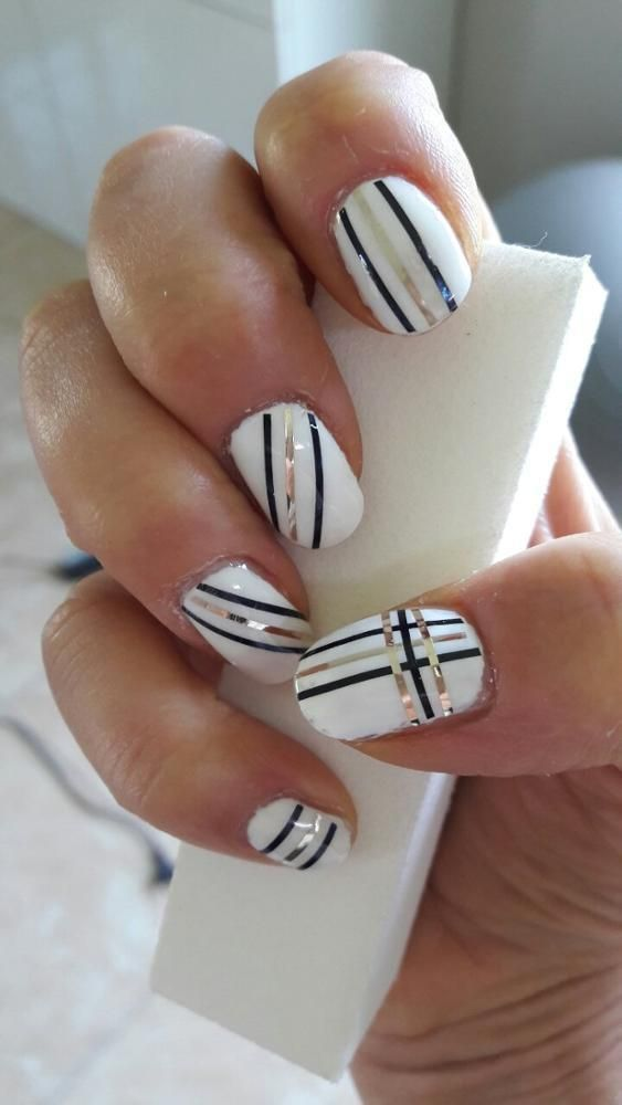 43 Strips Tape Line Nail Art Designs That You'll For Sure Love To Try | Nail  art | Nail designs, Nails, Nail art designs - 43 Strips Tape Line Nail Art Designs That You'll For Sure Love To