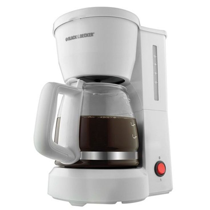 Black & Decker DCM600W 5-Cup Drip Coffeemaker with Glass Carafe White