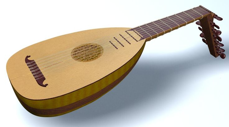 Lute | Closeups of the lute model: