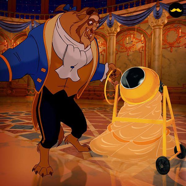 - for Golden Moustache - Les princesses Disney bétonnières -
