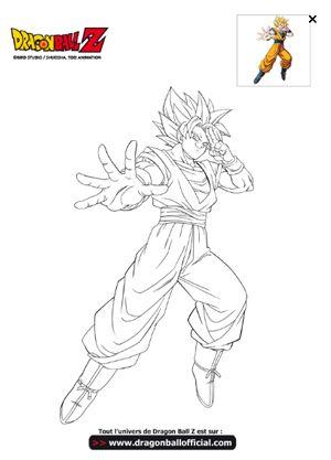 Goku sur hugo l 39 escargot diy dragon dragon ball et coloriage - Image de dragon ball za imprimer ...