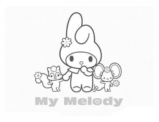 My Melody Coloring Pages Printable