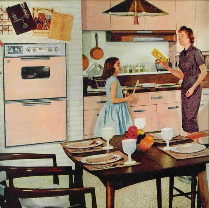 635 best images about vintage kitchens on pinterest for Modern retro kitchen appliance