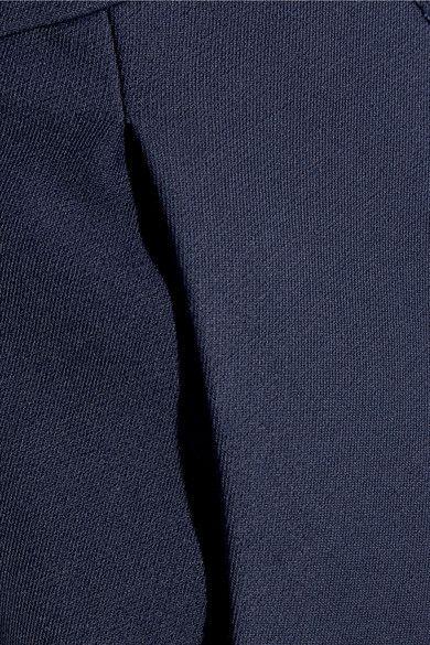 MSGM - Bow-embellished One-shoulder Cotton-blend Jumpsuit - Navy - IT40