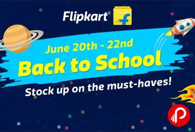 Flipkart is offering Back To School Store with Cool Supplies.  http://www.paisebachaoindia.com/back-to-school-store-with-cool-supplies-flipkart/