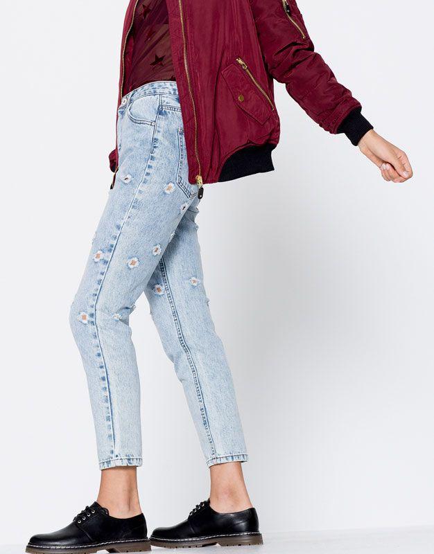 Jeans mom fit tagli - Promozioni - Donna - PULL&BEAR Italia