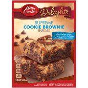 Betty Crocker Delights Dessert Bar Mix Supreme Cookie Brownie 19.5 oz Box Image 1 of 6