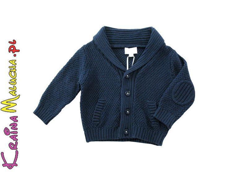 Markowe ubranka Babaluno Baby. Na zdjęciu ciepły sweter dla niemowląt.