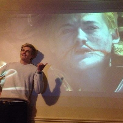 Game of Thrones funny.Jack Gleeson's reaction to the purple wedding