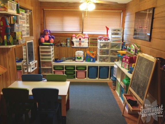 How to organize a play area like a boss...(some great ideas here!): Kids Spaces, Ikea Shelves, 8X9 Plays, Plays Rooms, 3 Kids, Plays Spaces, Plays Area, Kids Playrooms Organizations, Kids Rooms