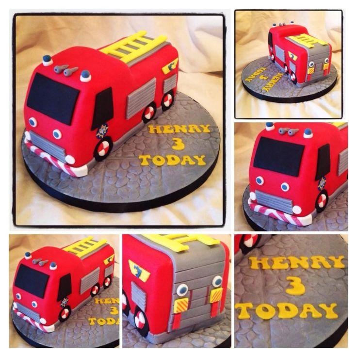 "My first fire engine ""Jupiter"" cake"