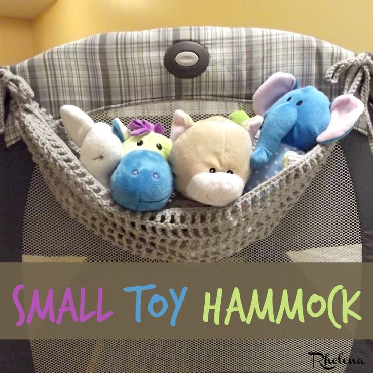 Free crochet pattern for the Small Toy Hammock. This toy hammock works up quick and easy and makes for a nice organizer for your children's toys.