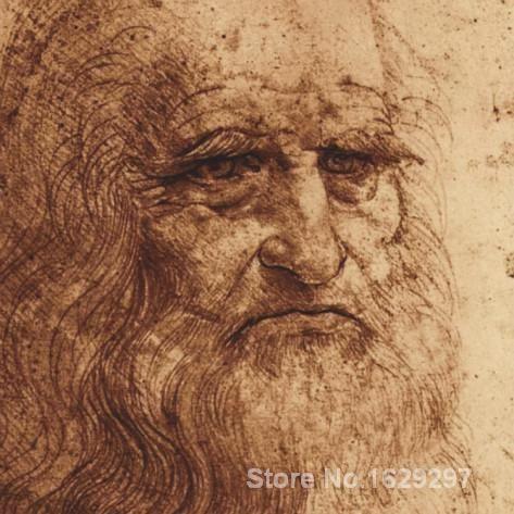 Canvas Paintings for living room Self Portrait detail Leonardo Da Vinci High quality Hand painted #Affiliate
