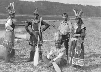 Maliseet group at Kingsclear on the St. John River in New Brunswick - 1887
