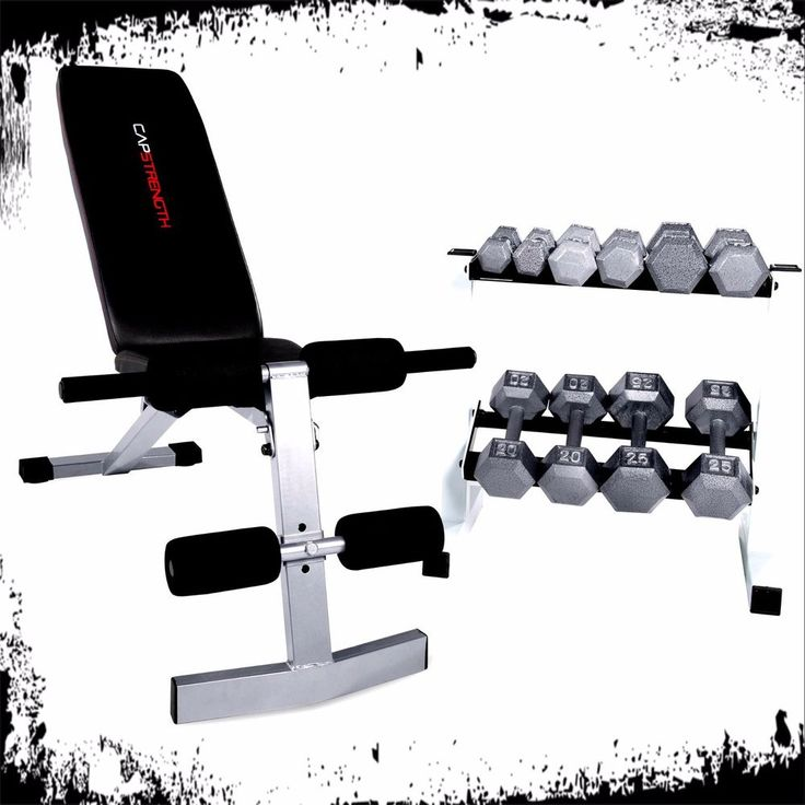 Fitness Weight Bench With Dumbbell Set 150 LBS Adjustable Workout Home Exercise #FitnessWeightBench