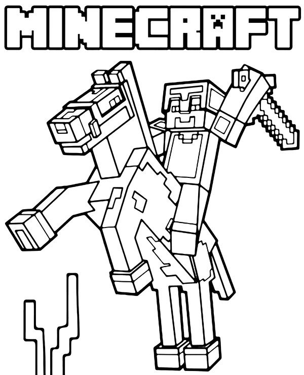 Minecraft Logo Steve Coloring Page Minecraft Coloring Pages Coloring Pages For Boys Lego Coloring Pages