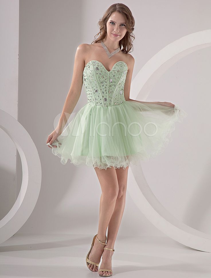 #Milanoo.com Ltd          #Homecoming Dresses       #Mint #Green #Strapless #Beading #Organza #Homecoming #Dress                  Mint Green Strapless Beading Organza Homecoming Dress                                                   http://www.snaproduct.com/product.aspx?PID=5682617