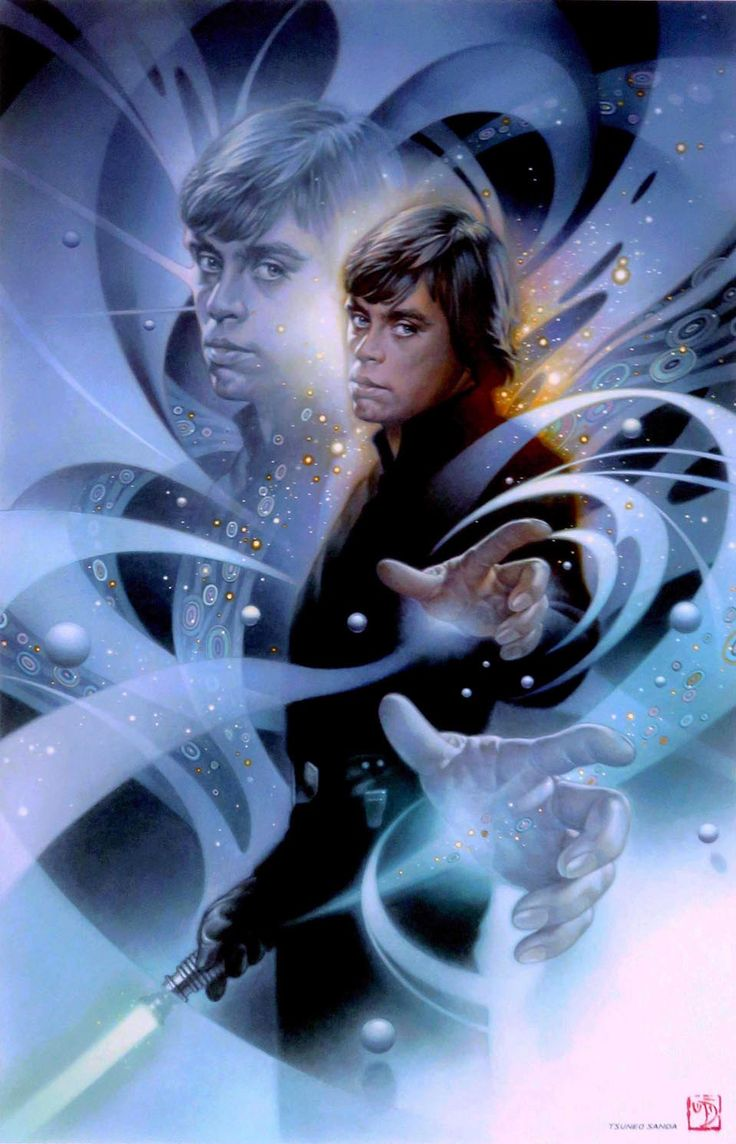 The Force Series / Jedi | STAR WARS ORIGINAL ART | SANDAWORLD.COM | The Art of TSUNEO SANDA