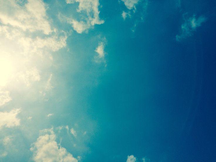 하늘 구름 해
