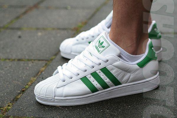 mens adidas superstar green
