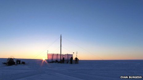 'Massive' reservoir of melt water found under Greenland ice http://www.bbc.co.uk/news/science-environment-25463647