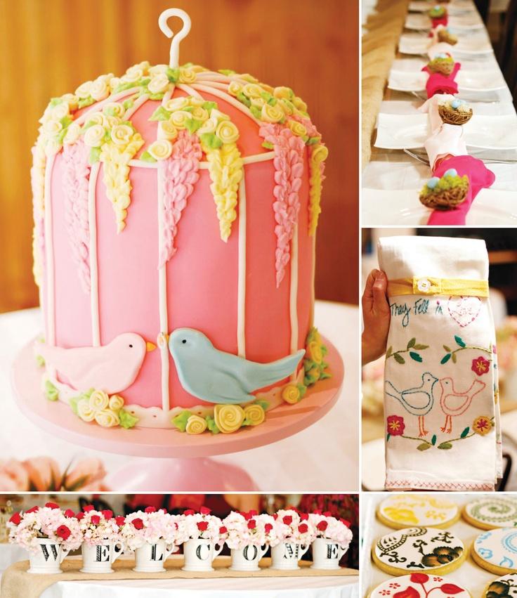 Charming Bird Inspired Bridal Shower http://hwtm.me/YeuD1Q