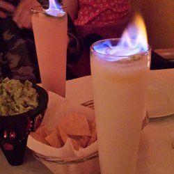Noche De Margaritas - New York, NY, United States. Flaming margaritas! I got passion fruit and she got raspberry