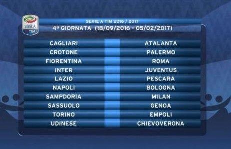 Il campionato di Serie A giunge alla 4^ giornata con la solita Juventus in testa…