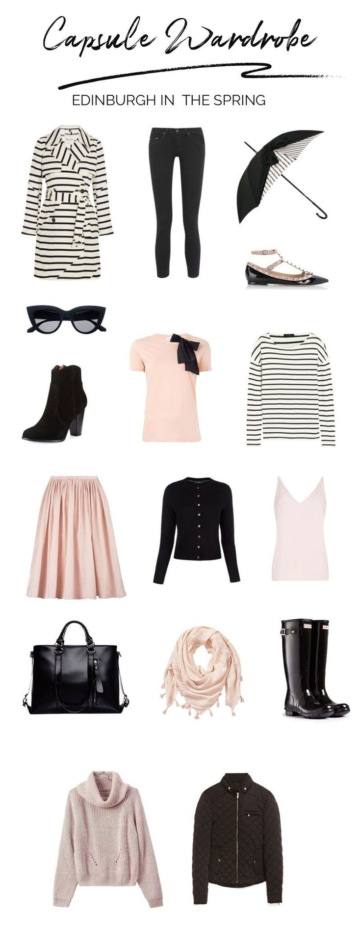 What to pack for Edinburgh in the Spring: a small capsule wardrobe for travel #travelparking