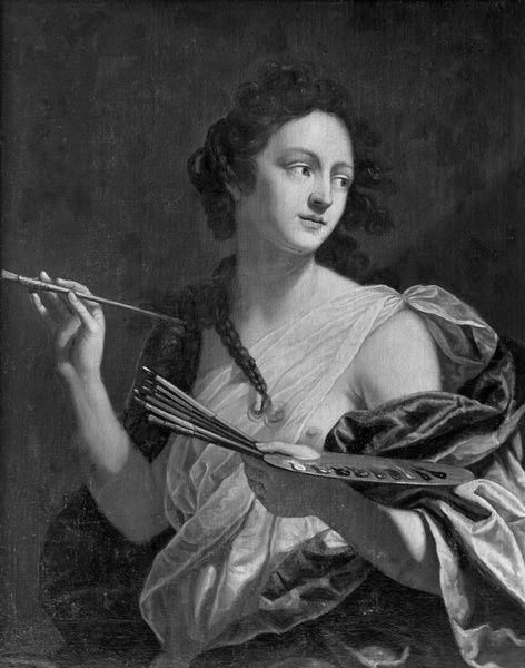 Artemisia Gentileschi  (1593-c.1656)   Autoritratto  Sammlung Schloss Weißenstein, Pommersfelden